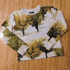 Gap Kids Botanical Print Sweatshirt, size Large